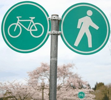 Bicycle/pedestrian sign